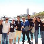 Kike Pavón y Fonky con equipo de filmación