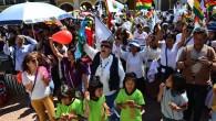 Evangelicos marchan en Bolivia