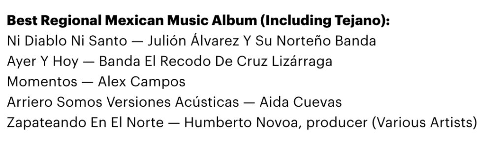 Alex Campos GRAMMY nominacion 2017