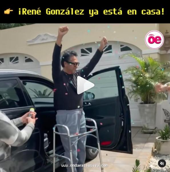 Rene González Sale de Hospital y Esta en Casa